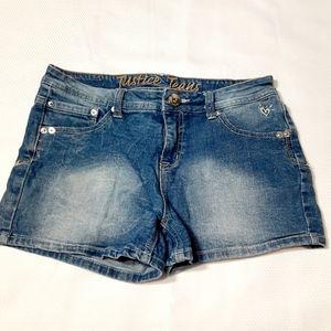 Girl's Justice Blue Jean Denim Shorts Size 16R